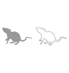 rat it is black icon vector image