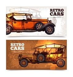 Retro Cars Banner Set vector image vector image