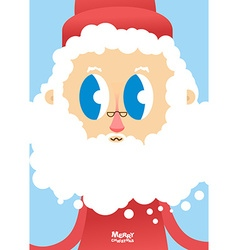 Santa Claus face close-up Greeting card for vector image