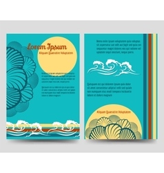 Sea style brochure flyers vector image