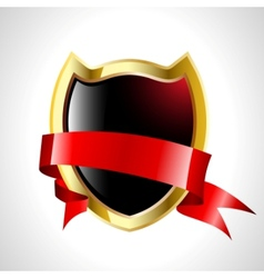 abstract shield with tape vector image vector image