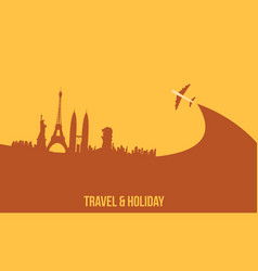 Background travel and holiday graphic collection vector