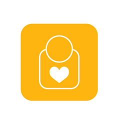 bib flat color icon baby items for newborns vector image
