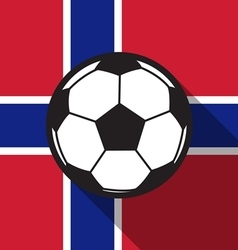 football icon with Norway flag vector image vector image
