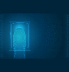futuristic digital processing of biometric vector image vector image