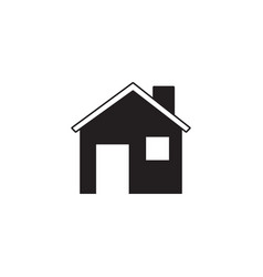 home solid icon building sign house vector image