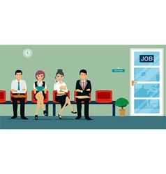 interview work vector image