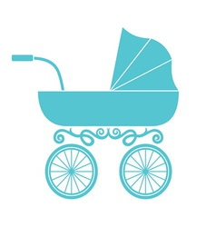 pram - baby carriage vector image vector image
