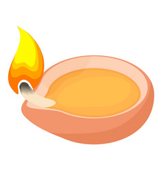 Scented candle icon cartoon style vector image vector image