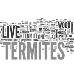 where do termites live text word cloud concept vector image vector image