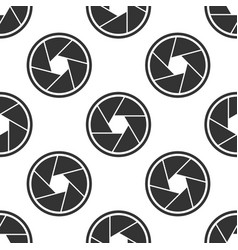 camera shutter icon seamless pattern vector image