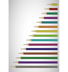 Color pencils poster vector image vector image