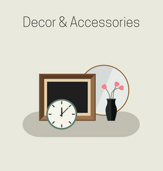 home decor and accessories vector image vector image