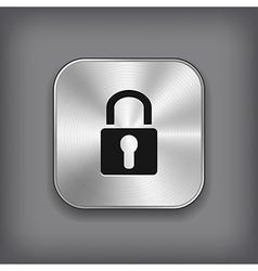 Lock icon - metal app button vector