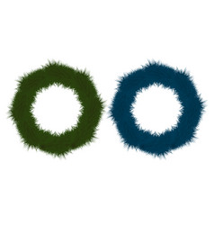 set of multicolored festive wreaths for christmas vector image