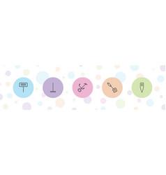 5 rake icons vector