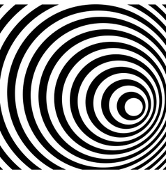 Abstract Ring Spiral Black and White Pattern vector