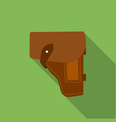 army handgun holster icon in flat style isolated vector image