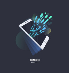 Augmented reality visual technology stylized icon vector
