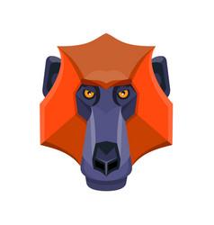 Baboon head flat icon vector