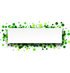 Banner with green confetti vector image
