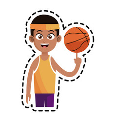 Basketball player icon image vector