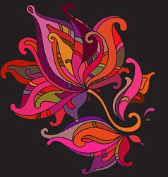 Beautiful colorful graphic flower vector