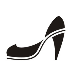 Black high heel vector