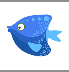 Blue angelfish fantastic colorful aquarium fish vector