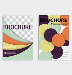 Business brochure design template flyer layout vector