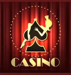 casino night party emblem vector image