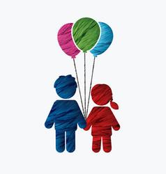 children icon love icon couple icon vector image