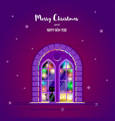 christmas greting card vector image