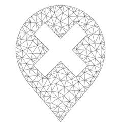 Closed marker polygonal frame mesh vector