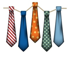 Colorful Mens Ties vector image