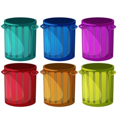 Colorful trashbins vector