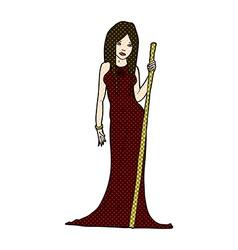 comic cartoon sorceress vector image