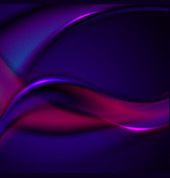 dark blue and purple smooth blurred wavy vector image