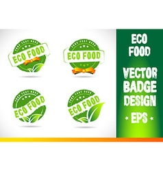 Eco Food Badge Logo vector