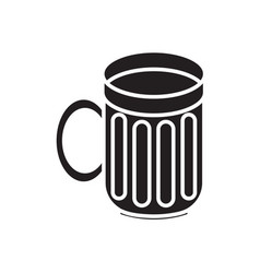 empty mug for beer vector image