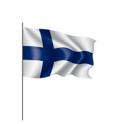 finland flag on a white vector image