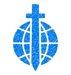 Global Guard Grainy Texture Icon vector image