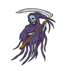 Grim reaper drawing vector
