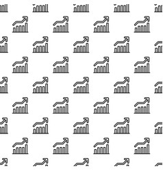 grow up graph pattern seamless vector image