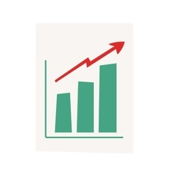 growing chart graph vector image