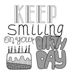 Hand drawn lettering happy birthday vector