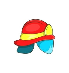 Helmet of firefighter icon cartoon style vector
