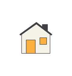 home line icon building sign house social media vector image