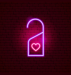 Hotel label love neon sign vector