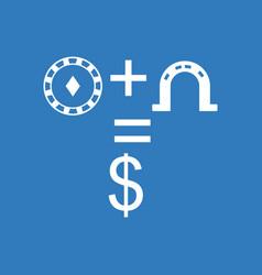 Icon chip horseshoe dollar symbol vector